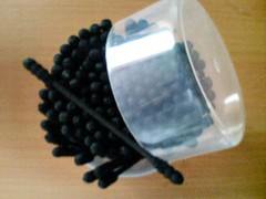 black cottonbuds