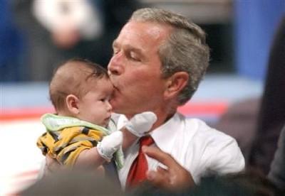 bush_kiss_baby
