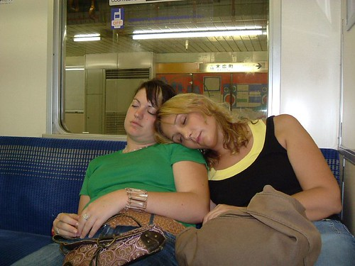 Asleep on Tokyo Tube - attractive!
