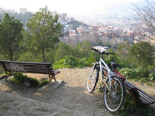 Vista del barrio de Horta, en Barcelona, desde el Parc del Guinardó