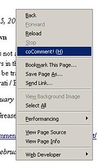 coComment! for Firefox