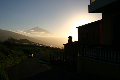 El Teide in the setting sun light