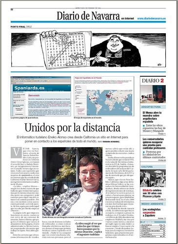 Spaniards.es en el Diario de Navarra