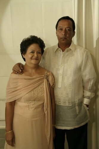 nanay and tatay (nanay's gown)