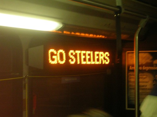GO STEELERS In the bus