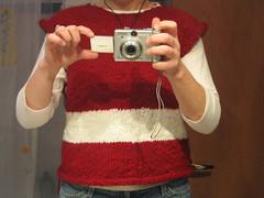 Valentine sweater in progress