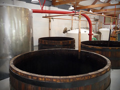 Making single malt whiskey at Glenora Distillery