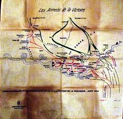 Carte de l'offensive alliée vers Toulon -Col. Blandine Bongrand Saint Hillier