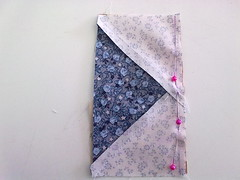 step 3a - sew the rectangles