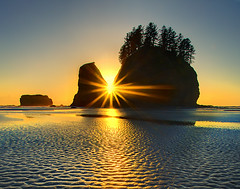 Second Beach Sunset -  Olympic National Park photo by kevin mcneal