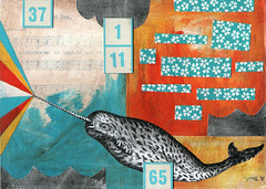 at sea- mixed media on panel photo by jodie hurt
