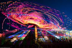 Clark County Fair, light trails at night photo by dannotti