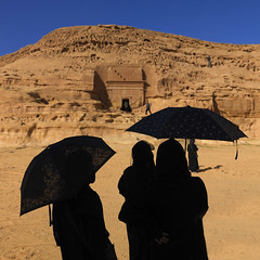 Japanese tourists in Madain Saleh - Saudi Arabia photo by Eric Lafforgue