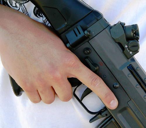 Sig 552 pistol grip, trigger, mag release