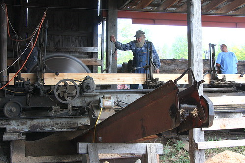 Working Steam Powered Saw Mill