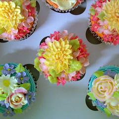Cupcake pink yellow photo by katjas Cakes