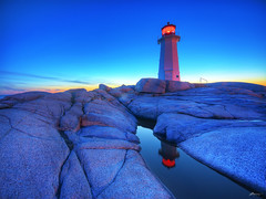 sunset at peggy's cove photo by paul bica