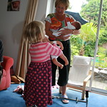 Comparing sizes with Baby Annabel<br/>26 Jul 2009
