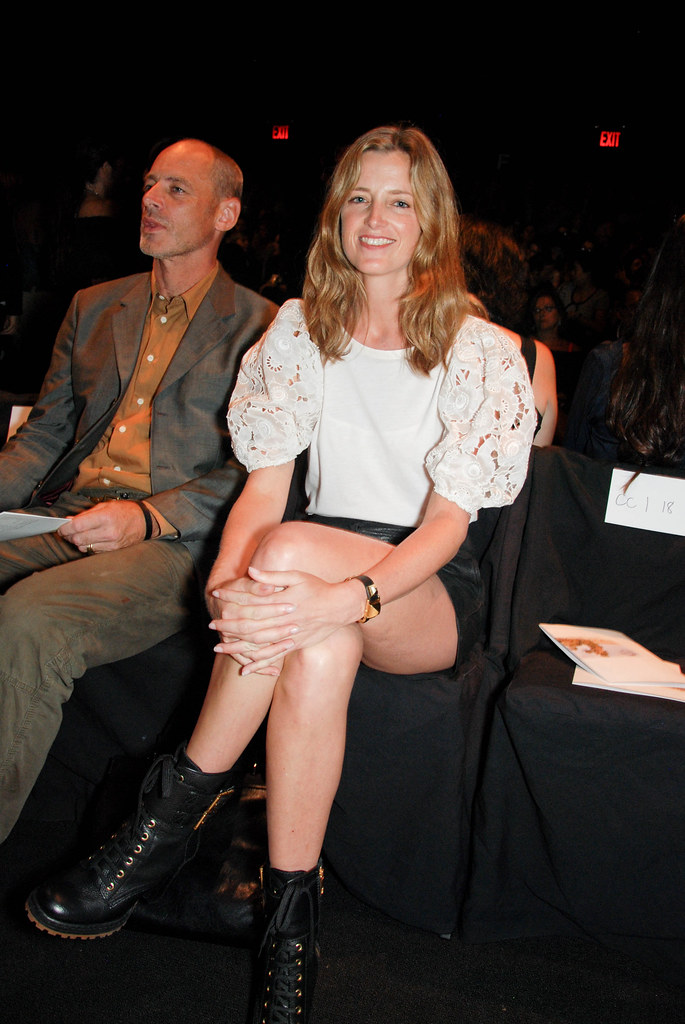 White Blouse and Black Boots, Diane von Furstenberg Front Row