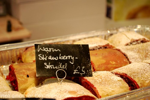 Manchester Christmas market - strawberry strudel 5