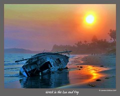 Wreckage in the Sun and Fog photo by lhg_11, 1 million+ views! Wow, I'm so grateful!