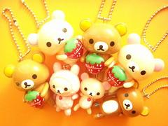 Kawaii Rilakkuma & Korilakkuma Bear Swing Keychain San-x Japan photo by Kawaii Japan