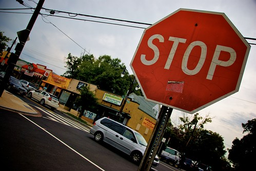 Stop sign on  Newton and 12th Street