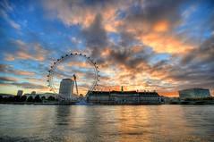 London Eye at Sunrise photo by 5ERG10