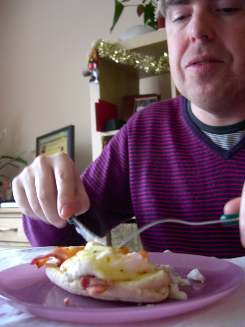 and his Eggs Benedict | Flickr - Photo Sharing!