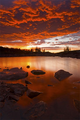 Beautiful Sunrise at Lake Isabelle in Ward Colorado photo by Will Shieh