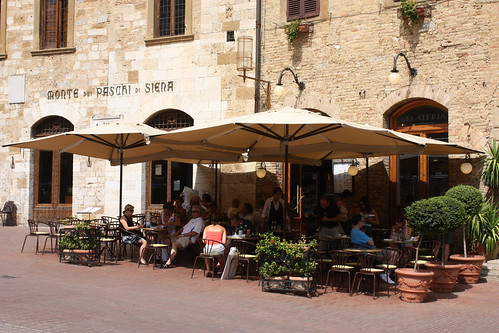 Cafe in San Gimignano