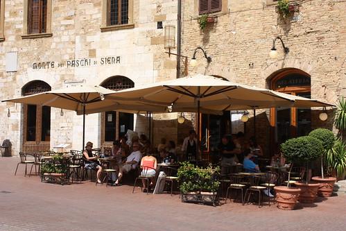 Cafe in San Gimignano