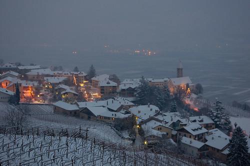 Erster Schnee in diesem Winter