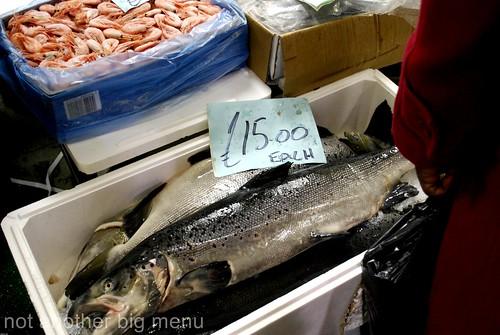 Billlingsgate fish market - salmon 2
