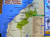 Mapa de las playas del norte