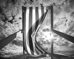 Deckchair and Sun, Bexhill photo by Jerry Webb