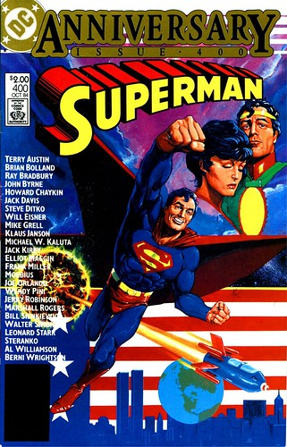 Superman 400 cover by Howard Chaykin