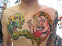 1950's comic art tattoo photo by A Gypsy Rose Tattoo New Orleans