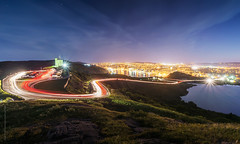 Signal hill summer2014 light trails, St. John's photo by tuanland