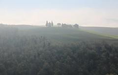 沉默 Silence ~ Fog && the Chapel of the Madonna di Vitaleta  ,  Tuscany  ( Toscana ) , Italy  托斯卡尼   ~ photo by PS兔~兔兔兔~