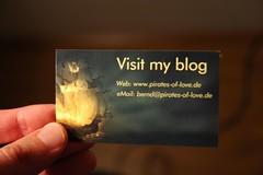 Visitenkarte zum Blog