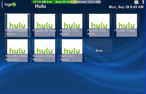 SageTV Hulu 3