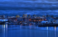 Victoria, British Columbia Skyline at The Blue Hour (HDR series) photo by Brandon Godfrey
