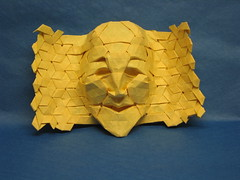 Tessellation Mask photo by blue paper