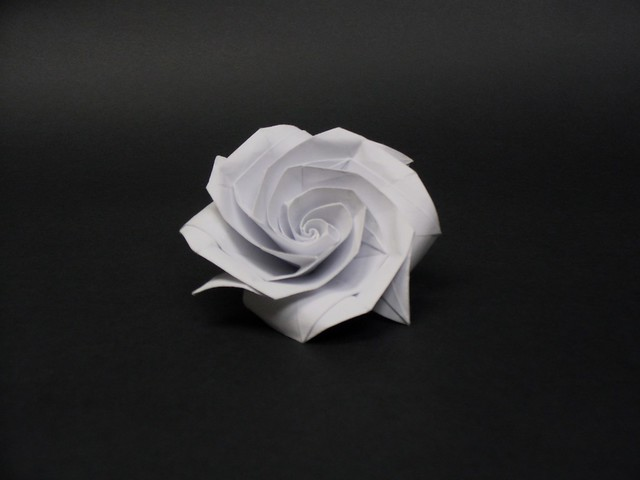 STEP BY STEP ORIGAMI ROSE