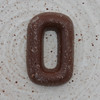 chocolate letter O