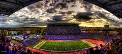 Husky Stadium Panorama - Washington football photo by Mike Fiechtner