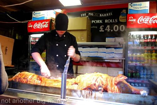 Manchester Christmas market - roast pork stall