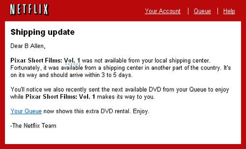 Netflix E-Mail
