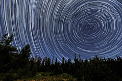 Perseid Meteors Penetrating Circumpolar Star Trails photo by Fort Photo